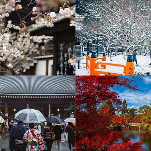 Giappone fai-da-te, scegliere la stagione migliore
