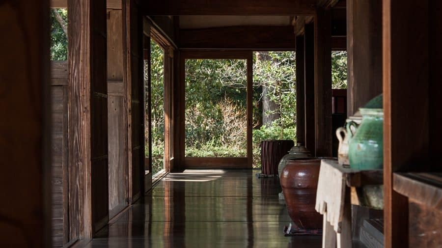 veduta interna della casa del ceramista Hamada a Mashiko
