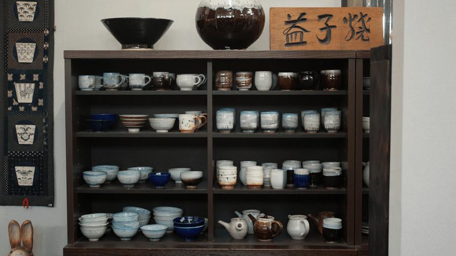 il negozio di ceramica Iwashita Pottery a Mashiko