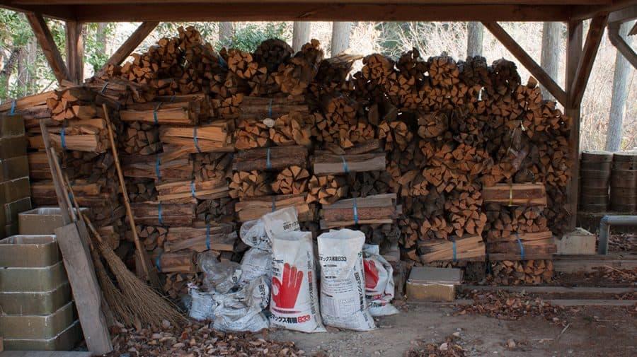 legna per alimentare forno anagama