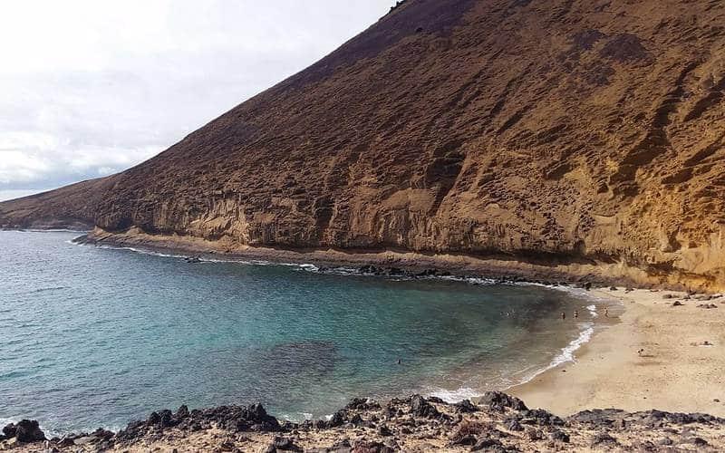 La Graciosa (Canarie), Playa de la Cocina ed il suo panorama incantevole